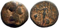 Ancient Coins - Pamphylia. Side AE16 Athena / Nike.