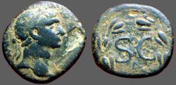 Ancient Coins - Trajan AE21  SC in wreath.  Seleucis and Pieria