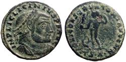 Ancient Coins - Licinius I AE23 Follis. Jupiter.  Thessalonica
