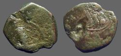Ancient Coins - Late Byzantine AE18 Tetarteron mint error