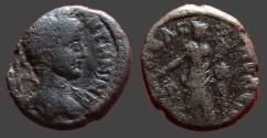 Ancient Coins - Elagabalus AE17 Decapolis, Gadara. Tyche stg w. rudder & cornucopia