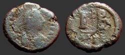 Ancient Coins - Justinian I AE16, 12 Nummi, Alexandria, Egypt.