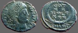 Ancient Coins - Constantius II AE3 Vows in wreath. VOT/XX/MVLT/XXX.