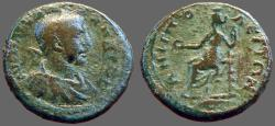 Ancient Coins - Severus Alexander AE22 Tyche seated.  Amphipolis, Macedonia