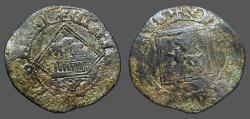 World Coins - Enrique IV billon Blanca. 1471-1474   Castilia and Leon.