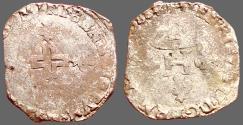 World Coins - France. Henry III,  AR26 Billon Gros of 3 Blancs