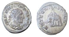 Ancient Coins - Roman Imperial Philip I  247-249 AD  AR Antoninianus Rx AETERNITAS AVGG Elephant Walk L
