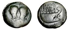 Ancient Coins - Octavian & Divus Julius Caesar Æ30 Dupondius of Gaul, Viennaca 36 BC