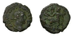 Ancient Coins - Roman Egypt Diocleation 284-305 AD Zeus Stg