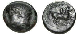 Ancient Coins - Macedonian Kingdom Phillip II 357-336BC AE 18 S-6699