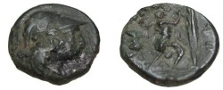 Ancient Coins - Macedonian Kingdom Antigonos Gonatas 277-239 BC AE 20 S-6786