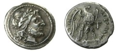 Ancient Coins - SICILY: AKRAGAS. 279-241 BC. Silver Drachma