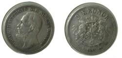 World Coins - Sweden 2 Kroner 1897