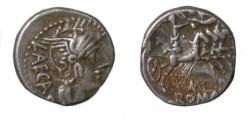 Ancient Coins - M. Porcius Laeca. 125 BC. AR Denarius