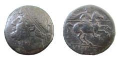 Ancient Coins - Sicily, Syracuse Hieron II 275-215 BC AE 26 17.21 gm