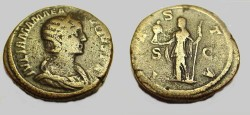 Ancient Coins - Julia Mamaea 222-235AD Mother of Severus Alexander AE Sestertius
