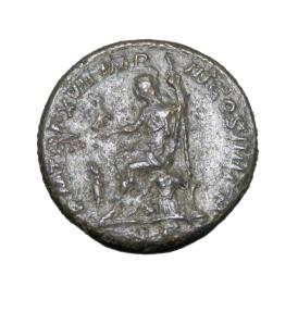 Ancient Coins - Roman Imperial Caracalla 193-211 AD  AE As 12.19 gm    Head Right Roma Std L