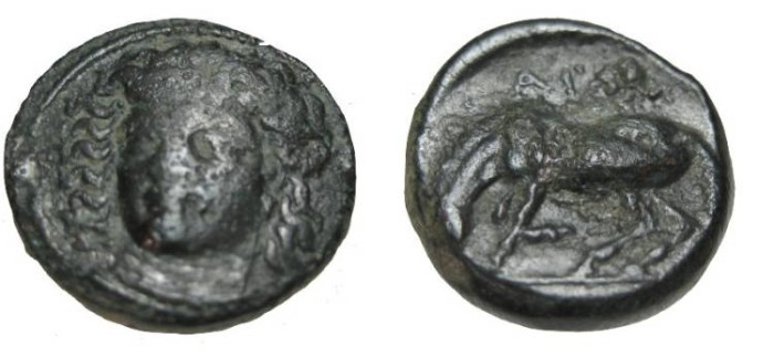 Ancient Coins - Thessaly Krannon AE 17 3rd Cent BC Obv S-2132  Rev S-2129