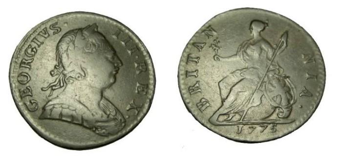 World Coins - 1775 George III Half Penny