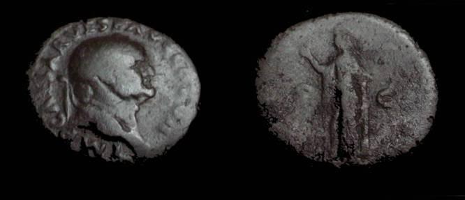 Ancient Coins - Vespasian Ae Dupondis 69-79AD
