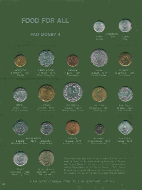 World Coins - FAO Board #4
