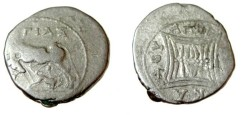 Ancient Coins - Appolonia, Illyria, minted ca 229-30 BC moneyer ΑΓ ΙΑΞ Agias magistrate ΑΠΟΛ ΕΠΙΚΑΔΥ