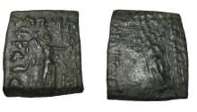 Ancient Coins - Bactria Phlyoxenos Ca. 110-80 BC AE Hemi-obol S# 7665