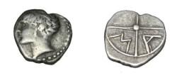 Ancient Coins - Gaul Massalio after 400 BC AR obol S-72