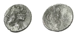 Ancient Coins - Persis Namopat 1st Century AD AR Obol S# 5939