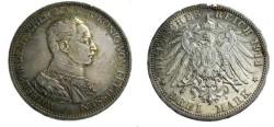 World Coins - Prussia Wilhelm II 1888-1918 3 mark 1914G