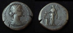 Ancient Coins - Lucilla AE Sestertius
