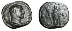 Ancient Coins - Phillip II 244-249 AD AE Sestertius Fides Militum RIC 772a