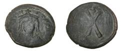 Ancient Coins - Tiberius 578-582AD AE Decanummin Constantinople