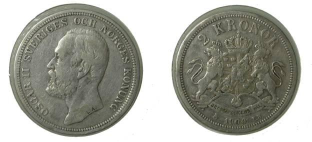World Coins - Sweden 2 Kroner 1900