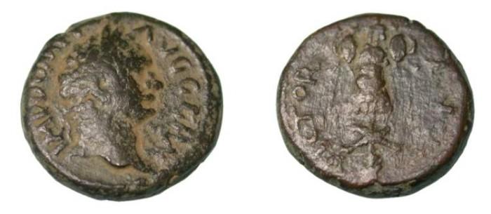 Ancient Coins - Domitian AE15 Laureate Head r