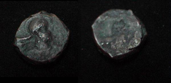 Ancient Coins - The Kushan Shaws Kabad AE 16 M 1294 AD 271-356