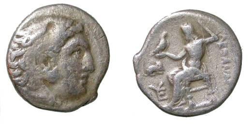 Ancient Coins - Macedonian Kingdom Alexander III 336-323 BC AR Drachm
