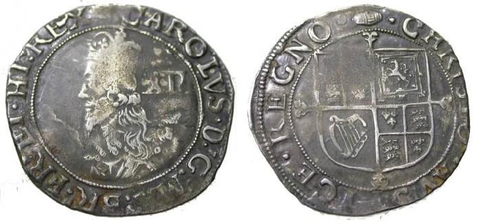 World Coins - England Charles I 1625-1649 Shilling Sun