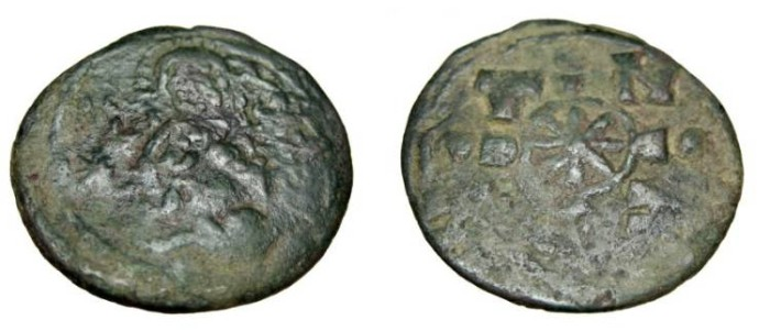 Ancient Coins - Nicephorus III 1078-1081AD Constantinople AE Follis