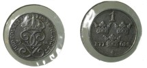World Coins - Sweden 1 Ore 1919  Iron KM# 789