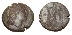 Ancient Coins - Hiketas 287-278 BC Sicily Syracuse AE22 CNS 172