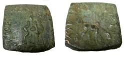 Ancient Coins - Indo Skythian Azes I Ca. 57BC - 35BC AE Hexa Chalkon Taxila