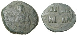 Ancient Coins - Anonymous Follie Attributed to Michael IV 1034-1041 AD S-1825 Class C
