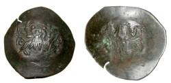 Ancient Coins - Alexius III 1195-1203AD Billion Aspron Trachy Constantinople