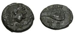 Ancient Coins - Black Sea Pantikapaion 3rd - 2nd Cent BC AE15 S-1707