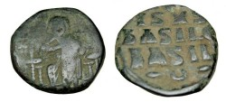 Ancient Coins - Anonymous 11th Century AE Follis S-1836