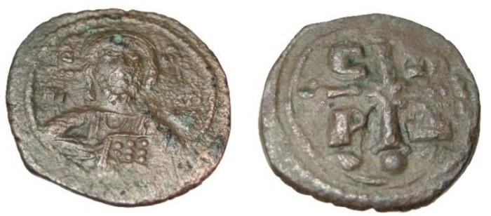 Ancient Coins - Romanus IV  1068-1071AD AE Follis S-1866