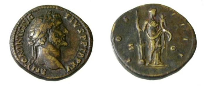 Ancient Coins - Antoninus Pius 138-161AD AE Sesterius