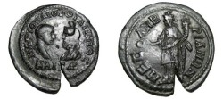 Ancient Coins - Philip II & Serapis 247-249 AD Mesembria, Thrace AE29 Assria Tyche