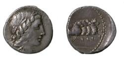 Ancient Coins - Roman Republic, Anonymous AR Denarius, 86 BC. A